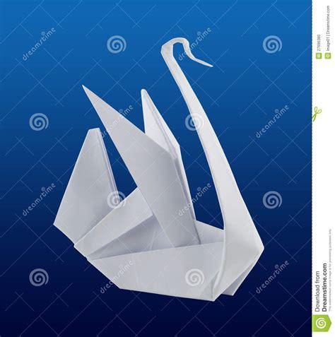 Origami Schwan - origami schwan stockfoto bild 27696380
