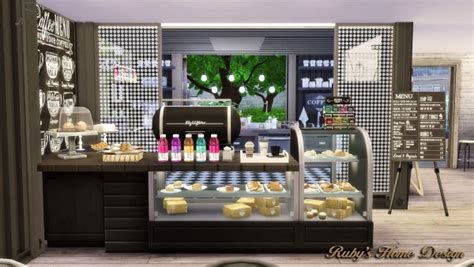 rubys home design container coffee shop sims  downloads
