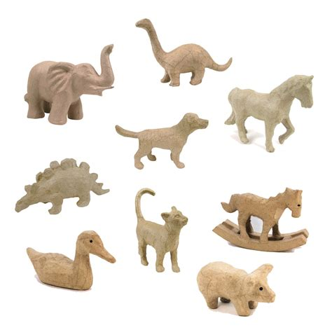 Papier Mache Animals For Decoupage - decopatch decoupage papier mache animals small range
