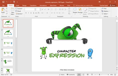 Animated Character Expressions Powerpoint Template Powerpoint Template 2017