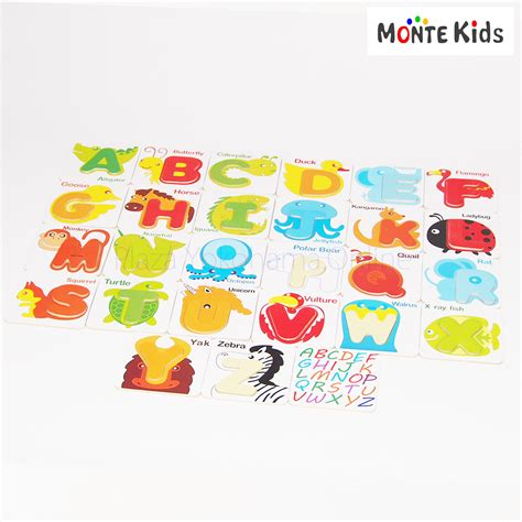 Kid Jp Mkburgers monte kids mk 018 動物アルファベットパズル outlet モン