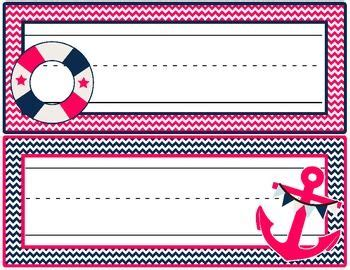 desk name plates for students student desk name plate nautical pink navy theme
