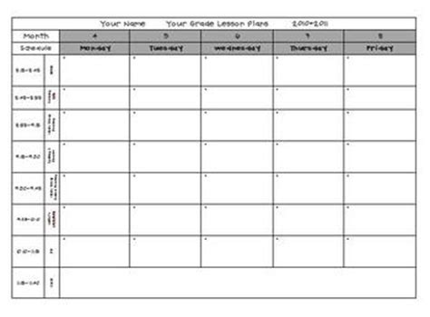 lesson plan template for pre k lesson plan template pre k elementary by babbling abby
