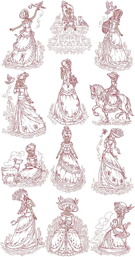 victorian designs victorian ladies machine embroidery designs by sew swell