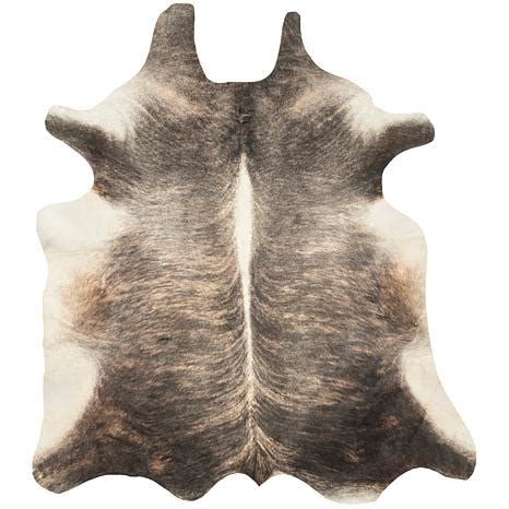 safavieh cowhide leather rug 4 6 quot x 6 6 quot hsn - Safavieh Cowhide Rugs