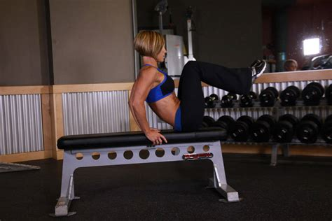 bench leg pull in seated flat bench leg pull in exercise guide and video