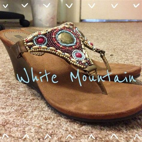 white mountain beaded sandals white mountain white mountain beaded wedge sandals from
