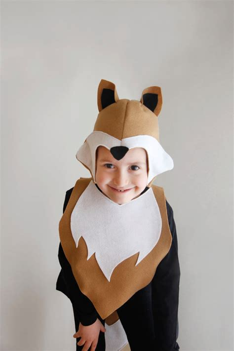 fox pattern diy costume mask sewing  boy instant