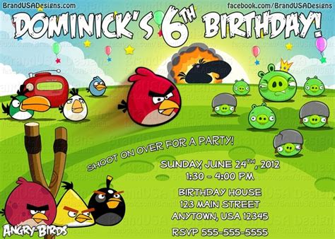 angry birds birthday invitation template free angry birds birthday invitations templates free