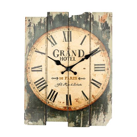 rustic clock large vintage antique rustic shabby chic wall clock home