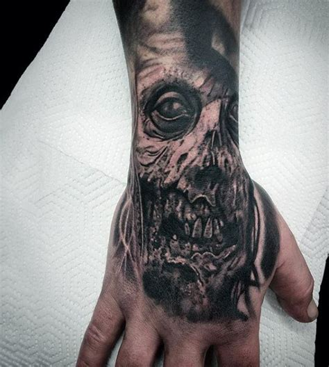 90 zombie tattoos for men masculine walking dead designs