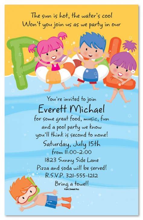Free Download Kids Invitation Swimming Orderecigsjuice Info Youth Invitation Template