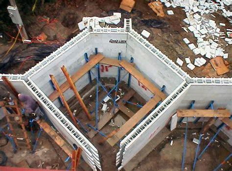 Home Builders House Plans Insulated Concrete Forms Icf Construction Detail Photos