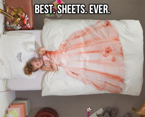 funny bed sheets sleeping like a princess the meta picture