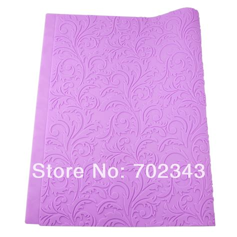 Fondant Embossing Mat by 56 8 37 8cm Fondant Embossing Mat Floral Imprint Textured