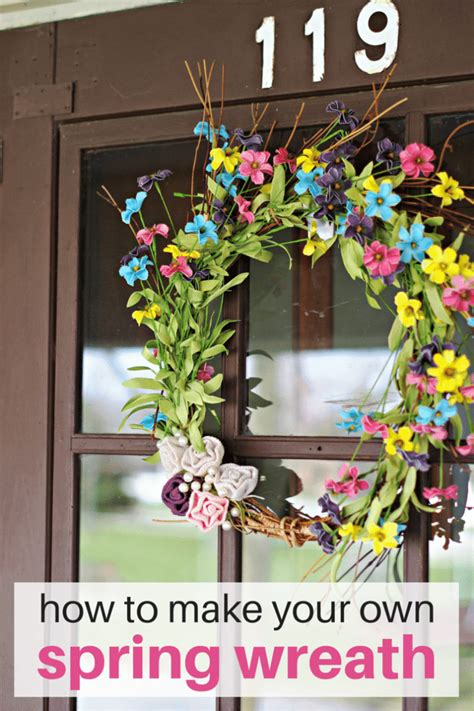 spring wreath cleverly simple