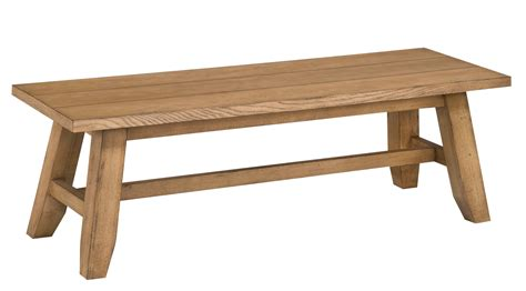 bench seat wood broyhill ember grove wood seat dining bench 4333 595