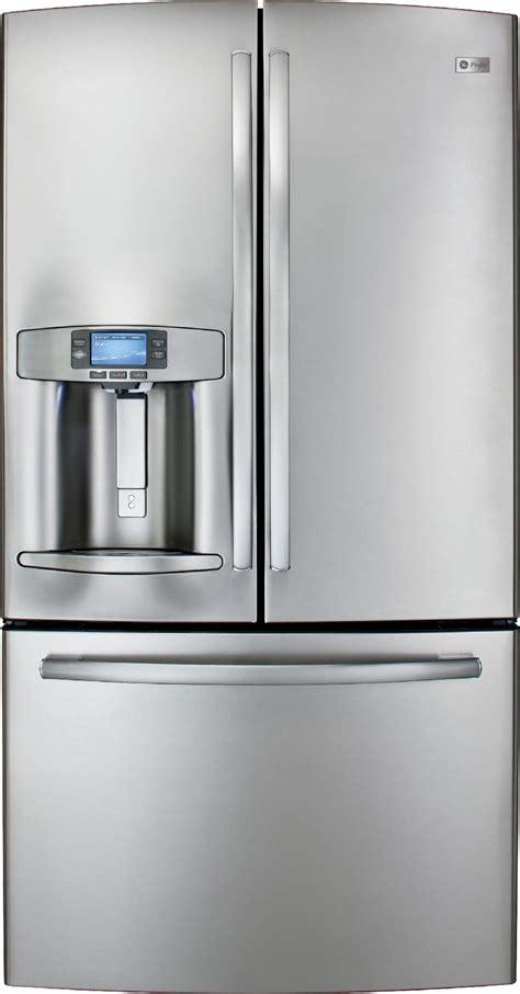 ge profile door fridge ge profile series 28 6 cu ft door bottom freezer
