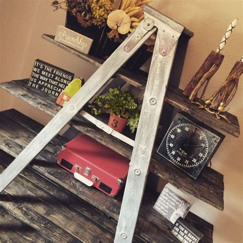 Country Shelf Ideas by This Ladder Just Needs A Fresh Coat Of Paint And Some Tlc