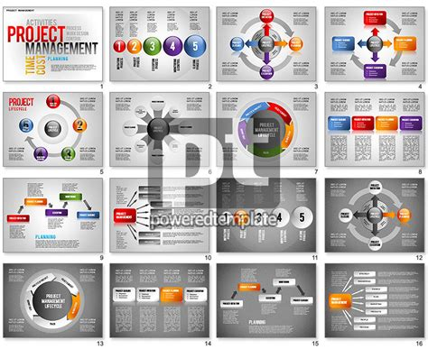ppt templates for it project presentation project management diagram set for powerpoint
