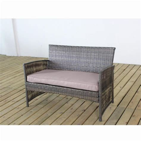 4 Pcs Complete Compact Outdoor Indoor Rattan Wicker Coffee