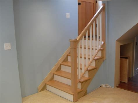 Banister For Stairs by Removable Handrail Traditional Staircase Portland