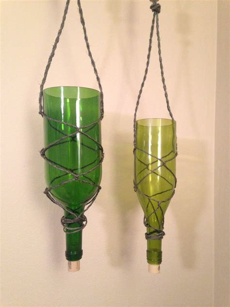 new 1 5l hanging wine bottle planter with corks