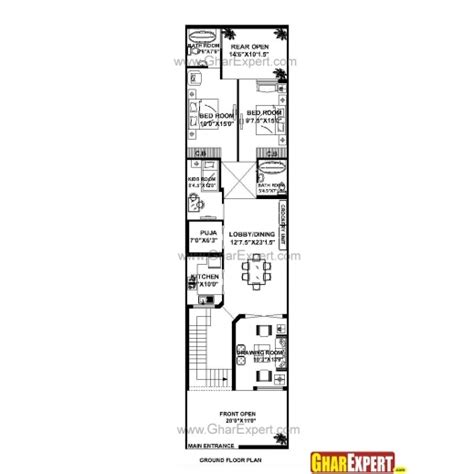 20 x 50 square feet home design amazing 20 feet 60 feet house planshome plans ideas
