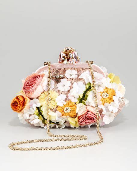 dolce gabbana miss dea lace floral pouchette clutch bag