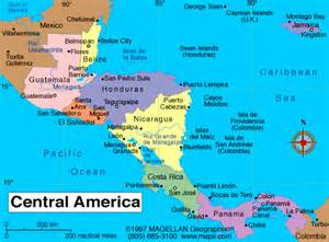 maps map central america