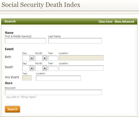 Deceased Search How To Search By Social Security Number Ssn