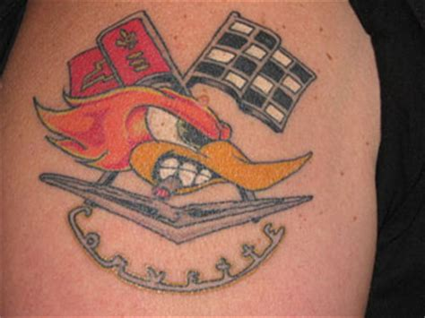 corvette tattoo designs mr horsepower pictures to pin on tattooskid