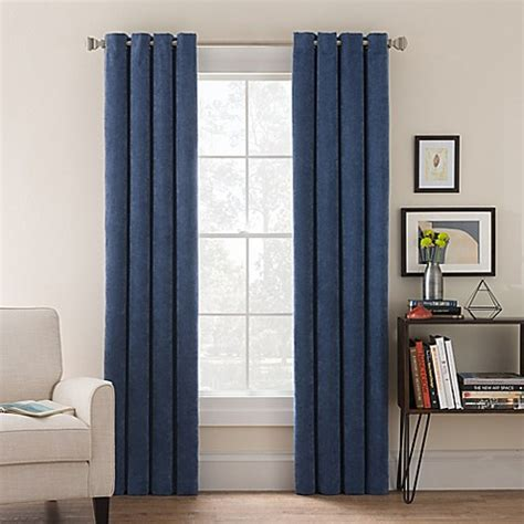 corduroy curtains buy morgan corduroy 108 inch grommet top window curtain