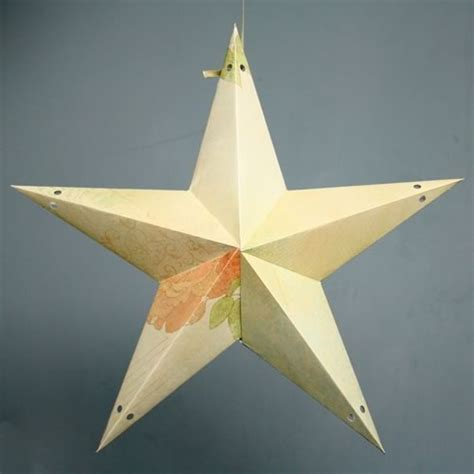 best photos of paper star lantern template 3d paper
