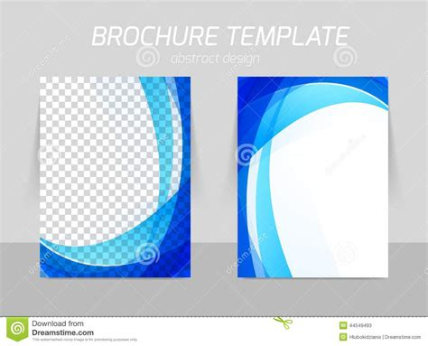 Back And Front Flyer Template Design Stock Vector Image 44549493 Blue Flyer Template
