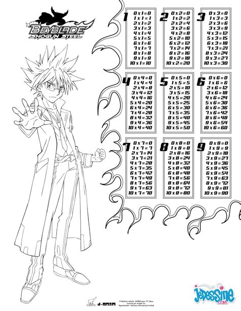 coloring pages by multiplication multiplication table beyblade coloring pages hellokids com