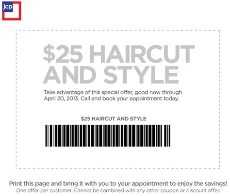jcpenney printable coupons hair salon jcpenney salon 25 haircut and style printable coupon
