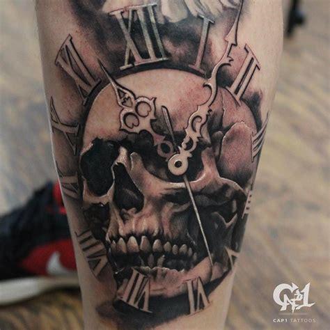 clock tattoo tattoos skull on instagram