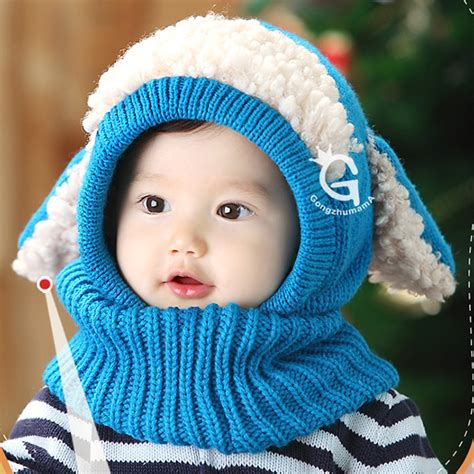 toddler boy coif scarf kintted woolen