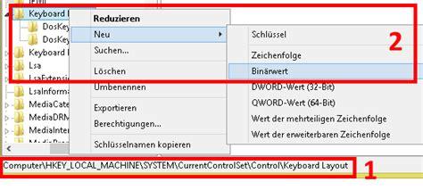keyboard layout hkey local machine tastatur konfigurieren so 228 ndern sie die tastenbelegung