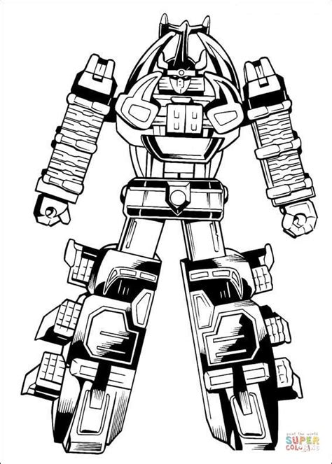 power rangers robot coloring pages the megazord is ready to fight coloring page free