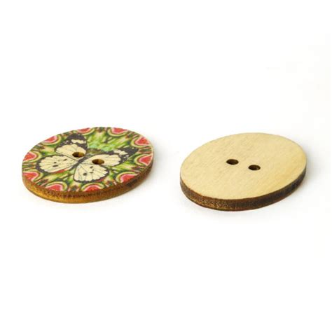 Sale Wooden Button Kancing Kayu Butterfly Motif wood button papillon colore 6 beige buttonsfavorable buying at our shop