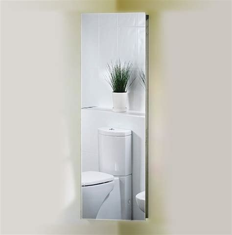 corner mirror bathroom cabinet 380x1200x200mm roma