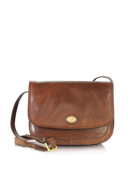 brown leather crossbody the bridge story donna marrone leather crossbody bag in brown save 41 lyst