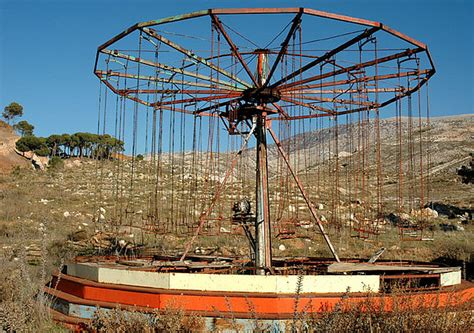 swing rides sadly utterly abandoned amusement parks lis anne harris