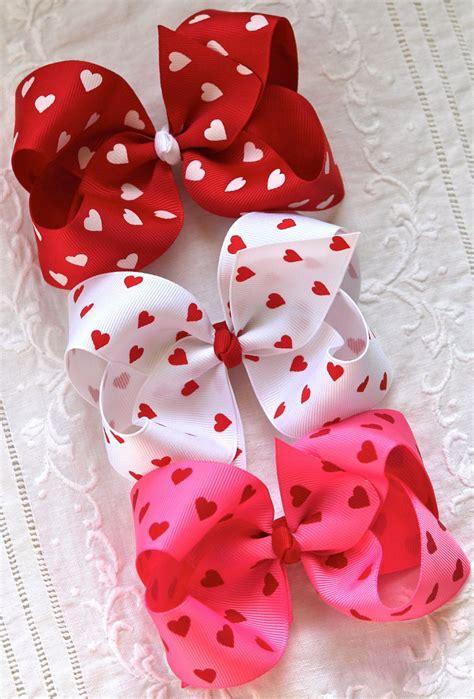 valentines hair bows s hearts hair bow a j hair