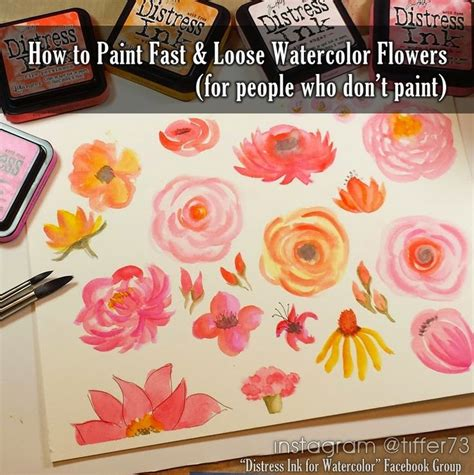 how to paint fast and bold simple techniques for expressive painting books best 25 watercolor flowers tutorial ideas on