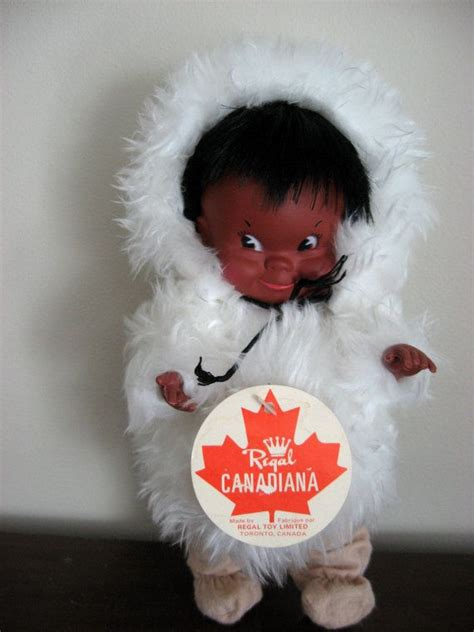 linkletter doll all original vinyl and plastic 10 quot 1969 inuit eskimo