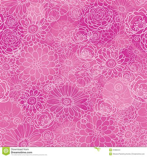 flowers seamless pattern element vector background pink lineart floral texture seamless pattern stock images