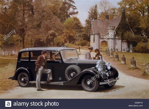 poster advertising rolls royce cars 1939 stock photo